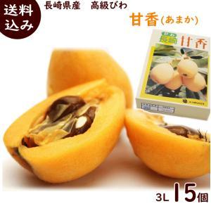 びわ 4月下旬頃から発送・長崎県産「高級びわ 甘香」 大玉 約1kg(3Lサイズ15個)