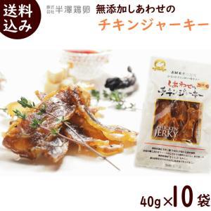 ジャーキー おつまみ 無添加 半澤鶏卵 しあわせのチキンジャーキー 40g×10袋 送料込|yamagata-kikou
