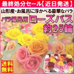 バラ ギフト  「ローズバス」 バラ風呂用 バラ花(約25輪...