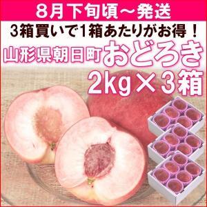 もも 桃 8月下旬頃から発送山形県朝日町産「おどろき」 秀品...