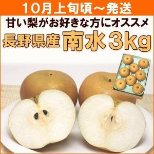 なし 梨 和梨 10月上旬頃から発送・長野県産「南水」 3kg(約8個) 送料込|yamagata-kikou
