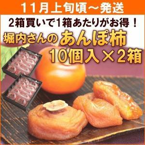 柿 あんぽ柿 奈良県堀内農園「あんぽ柿」 10個入×2箱...