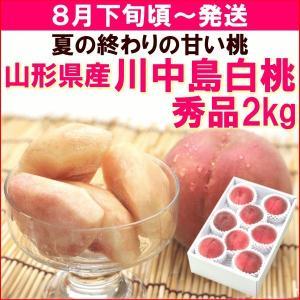 もも 桃 8月下旬頃から発送・山形県産「川中島白桃」 秀品2kg(6〜8個)|yamagata-kikou