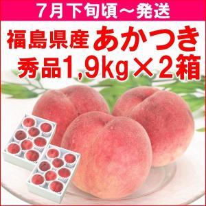 もも 桃 7月下旬頃から発送・福島県飯坂町産「あかつき」 秀...