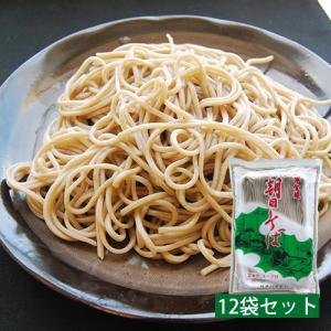 朝日そば(半生麺)[240g×12袋]めんつゆ付き|yamagata-umaies