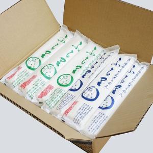 奥の細道 手打ち式そうめん・ひやむぎ「ふる里」各10袋セット[箱入]|yamagata-umaies