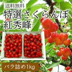 特選さくらんぼ紅秀峰1kgバラ詰|yamagata-umaies
