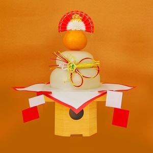 日本のお正月 鏡餅1kg 三方付き[上下一体型]|yamagata-umaies