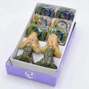 山形の伝承ゆべしセット(くるみ・ごま・お茶・醤油こしあん・よもぎつぶあん)各2個 化粧箱入り yamagata-umaies 05