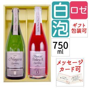 ワイン 2本セット 朝日町ワイン スパークリングワイン ナイアガラ&ベリーA(甘口&中口) 750ml×2本セット ワイン|yamagatamaru