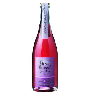 朝日町ワイン スパークリングマスカットベリーA ロゼ中口 山形 750ml ワイン|yamagatamaru