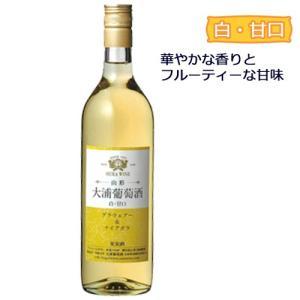 大浦葡萄酒レギュラーワイン【大浦葡萄酒】(白甘口) 720ml (南陽市)|yamagatamaru