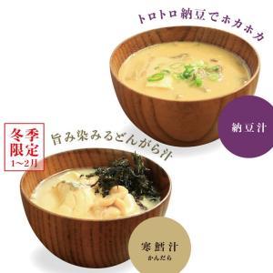 お惣菜 風土椀 冬セット 山形県 2食分 2袋 寒だら汁 納豆汁 ネコポス 送料無料|yamagatamaru