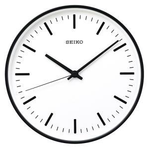 【5のつく日は最大14倍 9/25 0:00〜23:59】セイコー SEIKO  「 STANDARD 」 アナログ電波クロック φ310mm / ブラック|yamagiwa