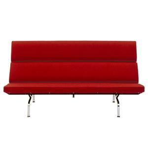 ハーマンミラー HermanMiller「Eames Sofa Compact」 レッド (取寄品)|yamagiwa