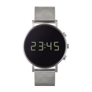 増税前に使える1,000円OFFクーポン|normal(ノーマル)腕時計 tokiji(トキジ)O38シルバーケース×ブラックメッシュ|yamagiwa