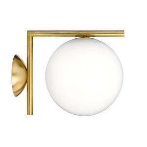 【簡単エントリーで最大14倍!(2/24 23:59まで)】フロス FLOS 「IC LIGHTS W1」ゴールド【要電気工事】|yamagiwa