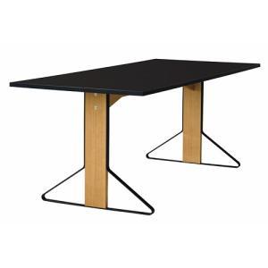 アルテック テーブル|artek カアリ・テーブル W200cm ナチュラルオーク/ブラックグロッシー(取寄品)|yamagiwa