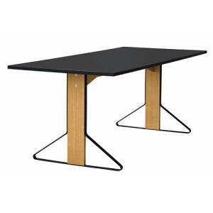 アルテック テーブル artek カアリ・テーブル W200cm ナチュラルオーク/ブラックリノリウム(取寄品) yamagiwa