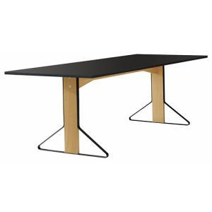 アルテック テーブル artek カアリ・テーブル W240cm ナチュラルオーク/ブラックリノリウム(取寄品) yamagiwa