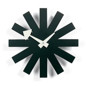 プレミアム会員限定!ポイント最大27倍|掛け時計|Vitraヴィトラ Sunburst Clock アスタリスク クロック/ブラック|yamagiwa