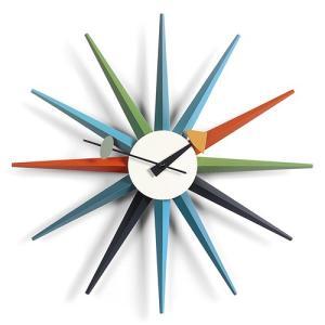 Vitra(ヴィトラ)「Sunburst Clock(サンバースト クロック)」マルチカラー|yamagiwa
