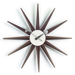 Vitra「Sunburst Clock(サンバースト クロック)」ウォルナット|yamagiwa