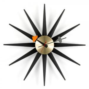 Vitra「Sunburst Clock(サンバースト クロック)」ブラック/ブラス|yamagiwa
