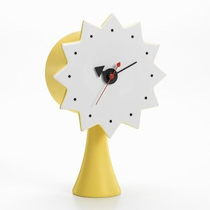 プレミアム会員限定!ポイント最大32倍|置時計|Vitraヴィトラ Ceramic Clock セラミック クロック MODEL#2 イエロー|yamagiwa