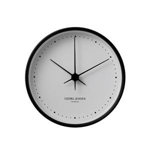 Georg Jensen (ジョージ ジェンセン)掛時計HK(エイチケー)ウォールクロック 22cmブラック|yamagiwa