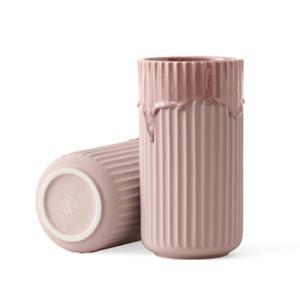 リュンビューポーセリン Lyngby Vase(リュンビューベース) ランニンググレーズ ピンク φ10×H20|yamagiwa