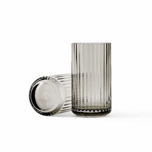 (7月上旬入荷予定)リュンビューポーセリン Lyngby Vase Glass(リュンビューベースグラス) スモーク φ7.5×H15|yamagiwa