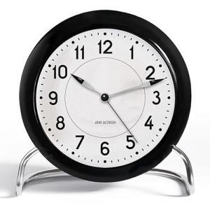 【簡単エントリーで最大14倍!(2/24 23:59まで)】 ROSENDAHL「Arne Jacobsen TableClock STATION(ステーション)」|yamagiwa