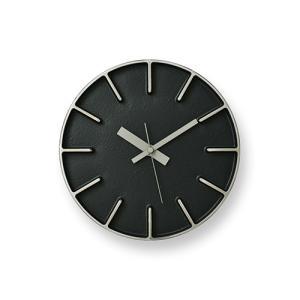 レムノス Lemnos 「 edge clock 」 φ180 ブラック|yamagiwa