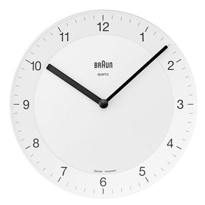 BRAUN(ブラウン )「 Wall Clock  BNC006」ホワイト|yamagiwa