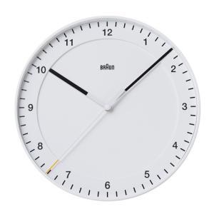 プレミアム会員限定!ポイント最大32倍|BRAUN(ブラウン) 「Wall Clock(ウォールクロック) BNC017」ホワイト|yamagiwa