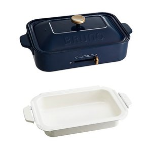 BRUNO(ブルーノ)キッチン家電 コンパクトホットプレート(セラミックコート鍋セット)ネイビー