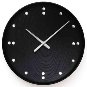 Finn Juhl(フィン・ユール) Wall Clock Black 345mm|yamagiwa