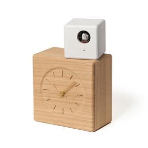 増税前に使える1,000円OFFクーポン|Lemnos(レムノス)Cubist Cuckoo Clock276 mmナチュラル+ホワイト|yamagiwa