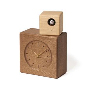 増税前に使える1,000円OFFクーポン|Lemnos(レムノス)Cubist Cuckoo Clock276 mmブラウン+ナチュラル|yamagiwa