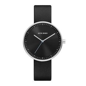 Jacob Jensen(ヤコブ・イェンセン)腕時計 Strata(ストラタ) O36ブラックケース×ブラックレザー|yamagiwa