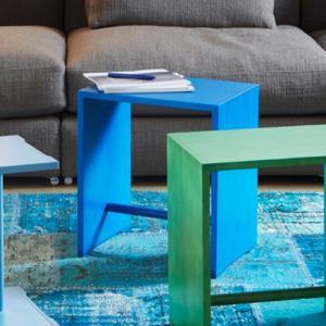 増税前に使える1,000円OFFクーポン|Wohnbedarf(ヴォーンベダルフ) スツール 「Ulm Stool Color」ブルー|yamagiwa
