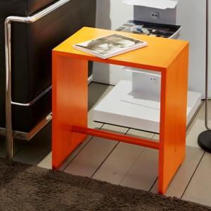 増税前に使える1,000円OFFクーポン|Wohnbedarf(ヴォーンベダルフ) スツール 「Ulm Stool Color」オレンジ|yamagiwa