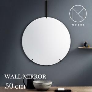 インテリア|フレームレスMOEBE(ムーベ)「WALL MIRROR(ウォールミラー)50cm」ブラス[996wmbl50]|yamagiwa