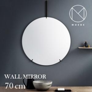 インテリア|フレームレスMOEBE(ムーベ)「WALL MIRROR(ウォールミラー)70cm」ブラス[996wmbl70]|yamagiwa
