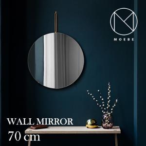 インテリア|フレームレスMOEBE(ムーベ)「WALL MIRROR(ウォールミラー)70cm」ブラック[996wmbr70]|yamagiwa