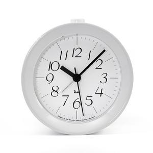 プレミアム会員限定!ポイント最大32倍|Lemnos「RIKI ALARM CLOCK」 アラーム時計/ホワイト光沢塗装|yamagiwa