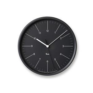 プレミアム会員限定!ポイント最大27倍|レムノス Lemnos「Riki Steel Clock」 電波時計/ブラック|yamagiwa