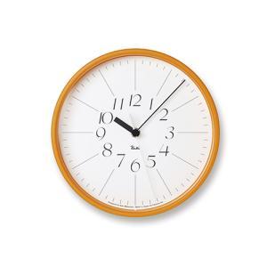 プレミアム会員限定!ポイント最大27倍|レムノス Lemnos「Riki Steel Clock」 電波時計/オレンジ|yamagiwa