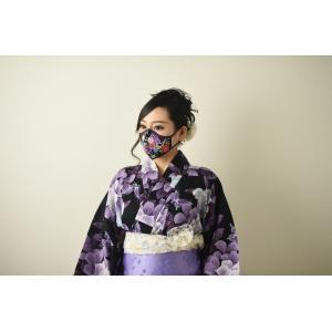 MASCHERA(マスケラ) 快適冷感マスク【日本の夏におしゃれな接触冷感素材和柄マスク】1枚入 送料無料 yamaharu808